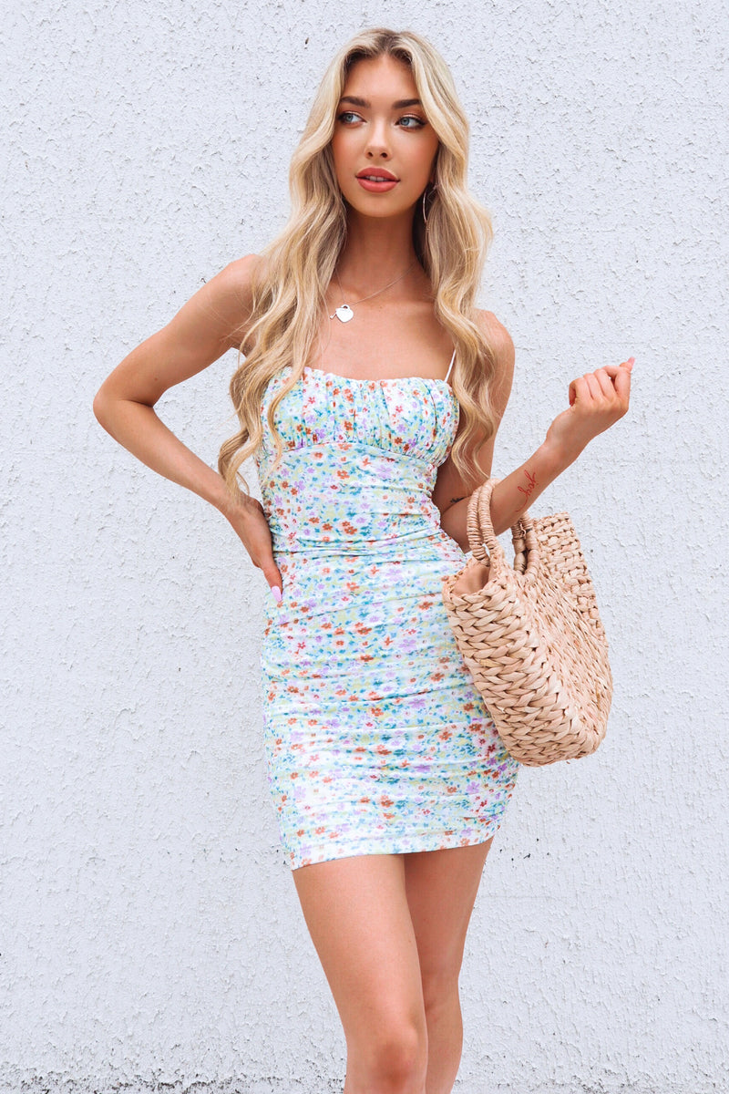 Kaya Mesh Dress - Multi Floral