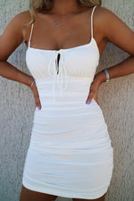 Kehlani White Bodycon Dress - Runway Goddess
