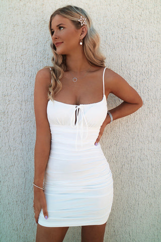 Kehlani White Bodycon Dress