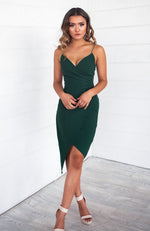 Kylie Bodycon Dress - Emerald Green - Runway Goddess