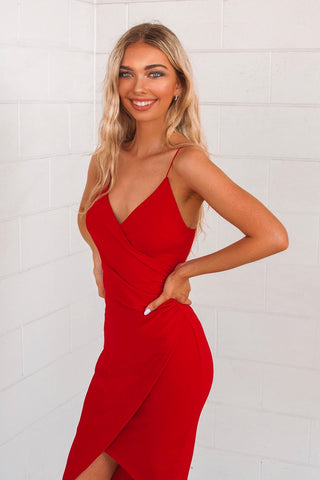 Kylie Red Bodycon Dress