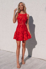 Lulu Dress - Red - Runway Goddess