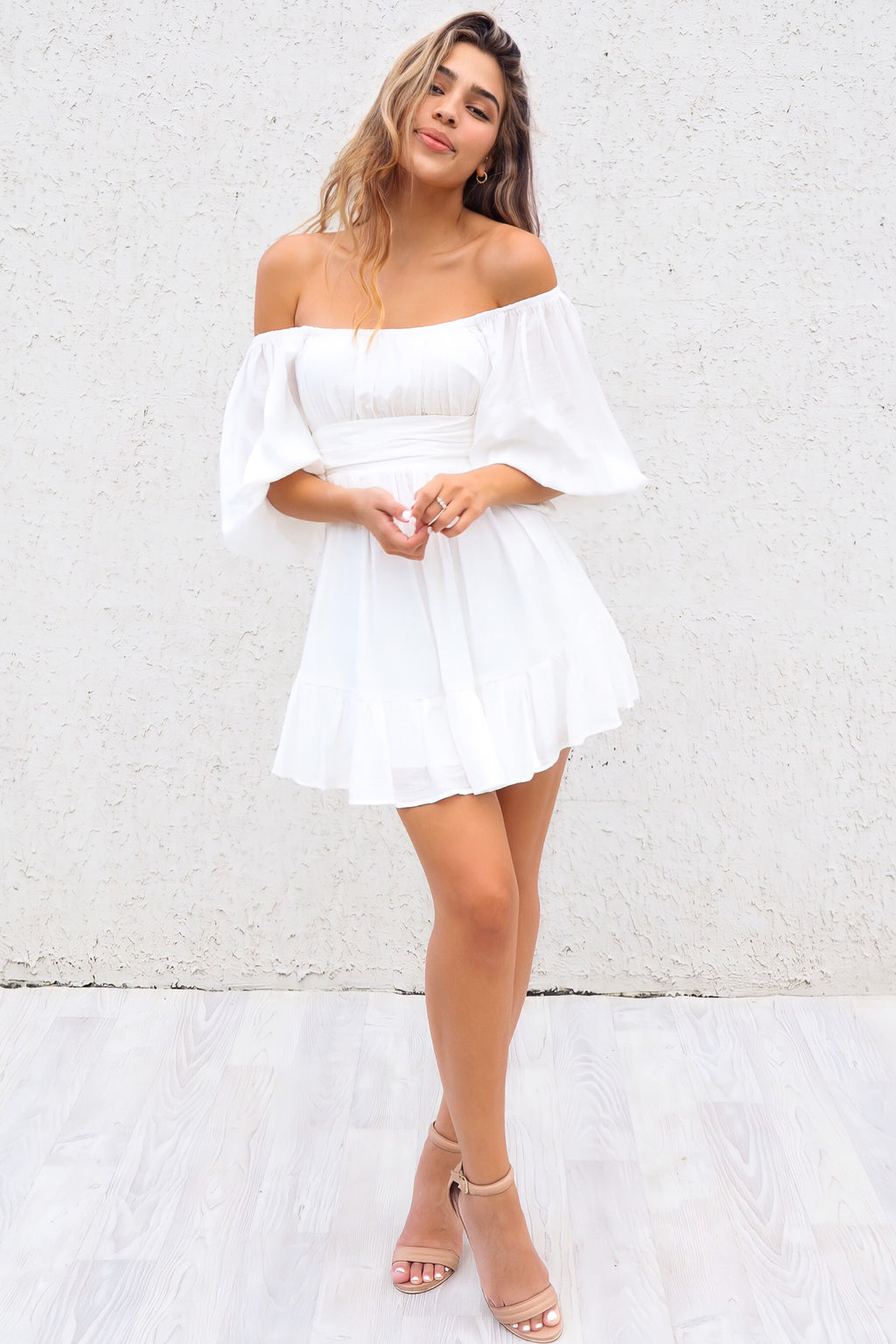 La Lune Dress - White