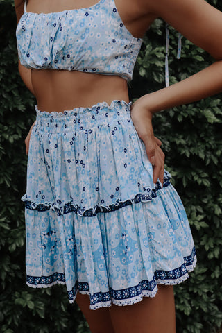Lagoon Blue Set Skirt