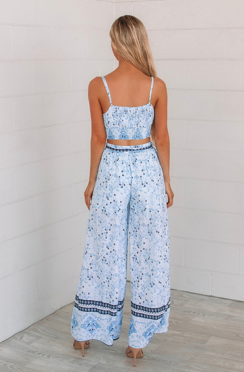 Lagoon Blue Set Pants - Runway Goddess