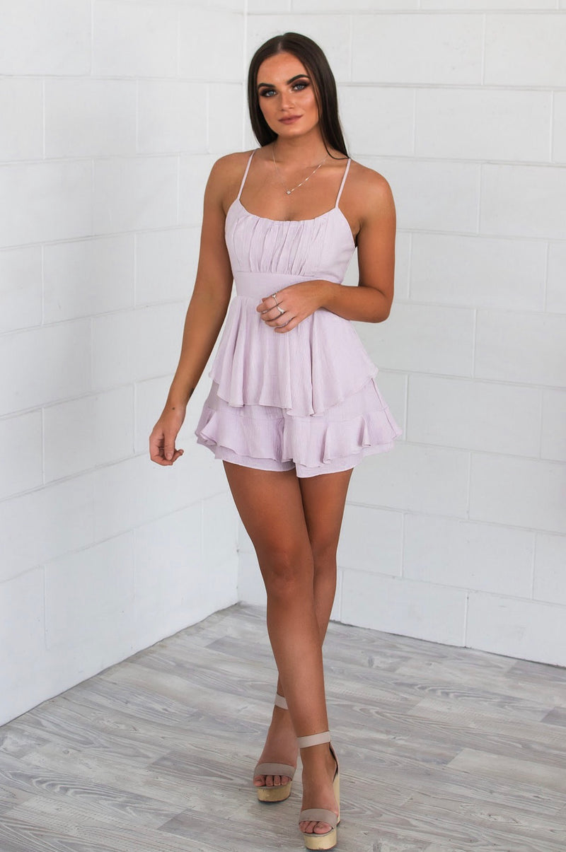 Venice Playsuit - Lilac - Runway Goddess