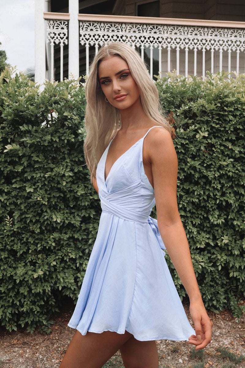 Lelani Dress - Baby Blue - Runway Goddess