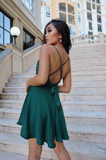 Lelani Dress- Emerald Green - Runway Goddess