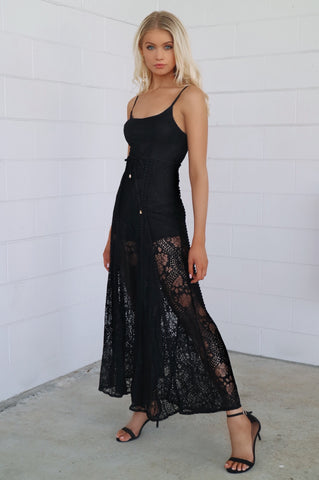 Leticia Black Lace Jumpsuit