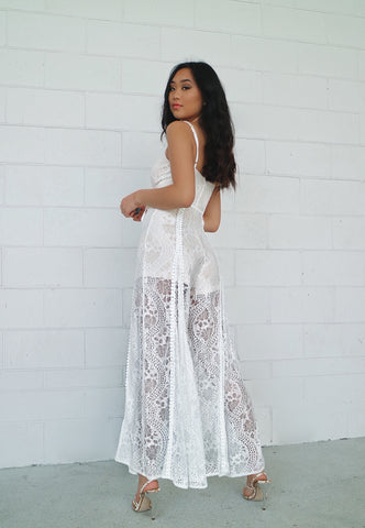 Leticia White Lace Jumpsuit