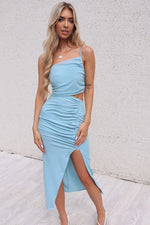 Lhana Baby Blue Bodycon - Runway Goddess
