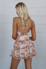Lolita Dress - Peach Floral - Runway Goddess