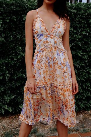 Lucianna Sunrise Midi Dress