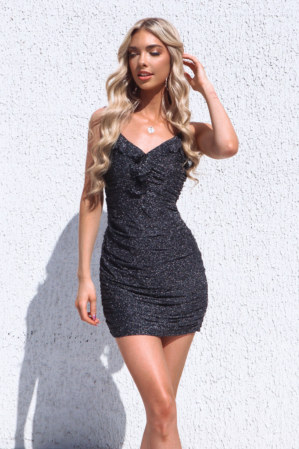 Madrid Glitter Dress - Black