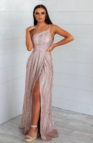 Mathilde Rose Gold Gown