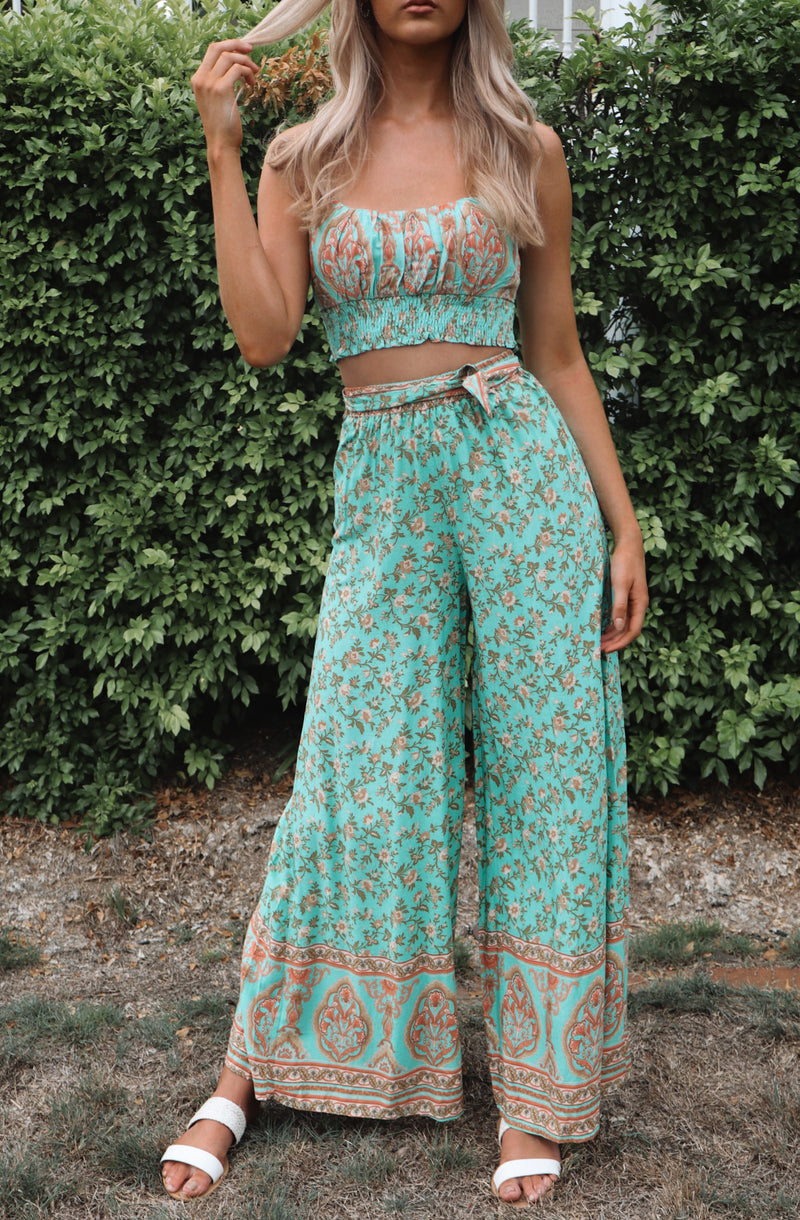 Mint Faye Pants Set - Runway Goddess