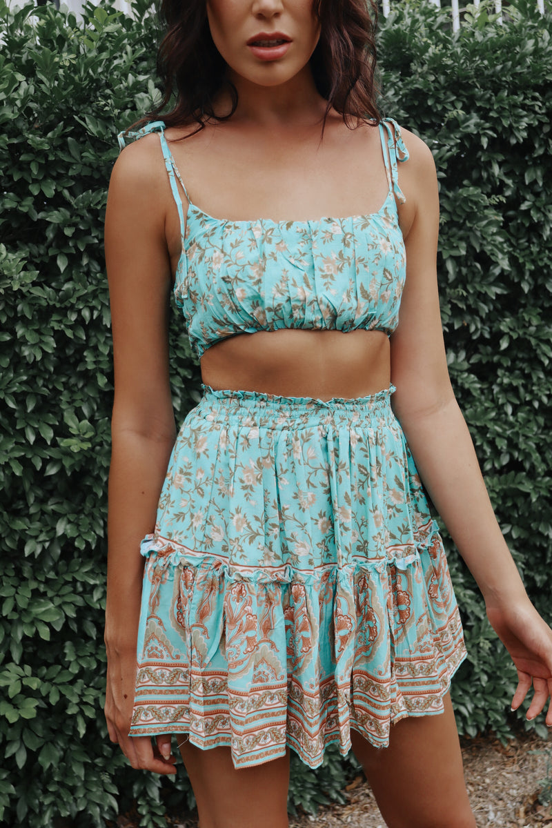 Mint Faye Set Skirt - Runway Goddess