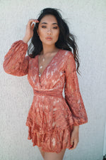 Monaco Lace Playsuit - Rust - Runway Goddess