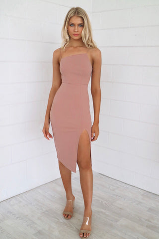 Muse Nude Bodycon Dress