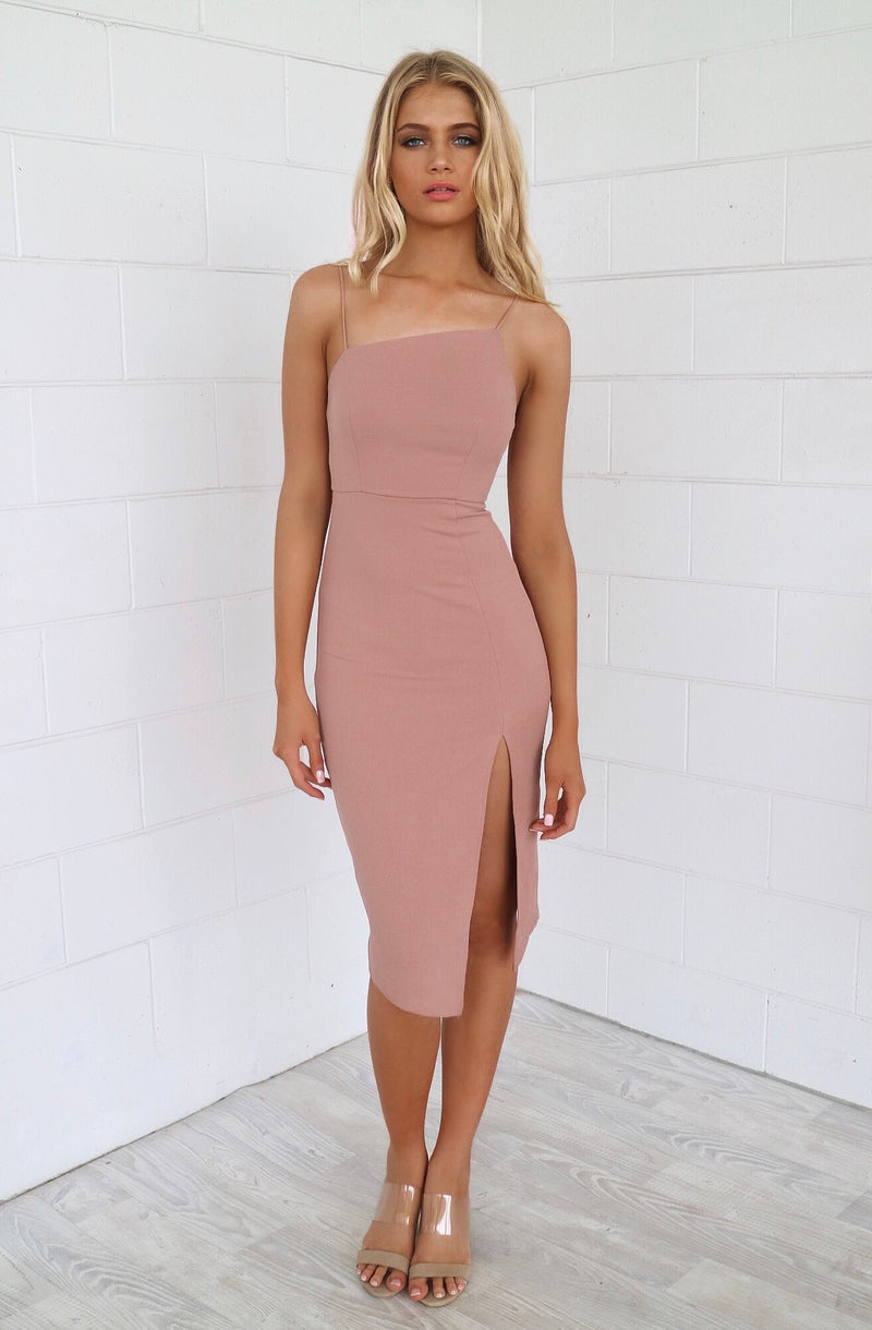 Muse Bodycon Dress - Nude - Runway Goddess