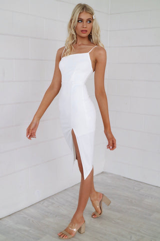 Muse White Bodycon Dress