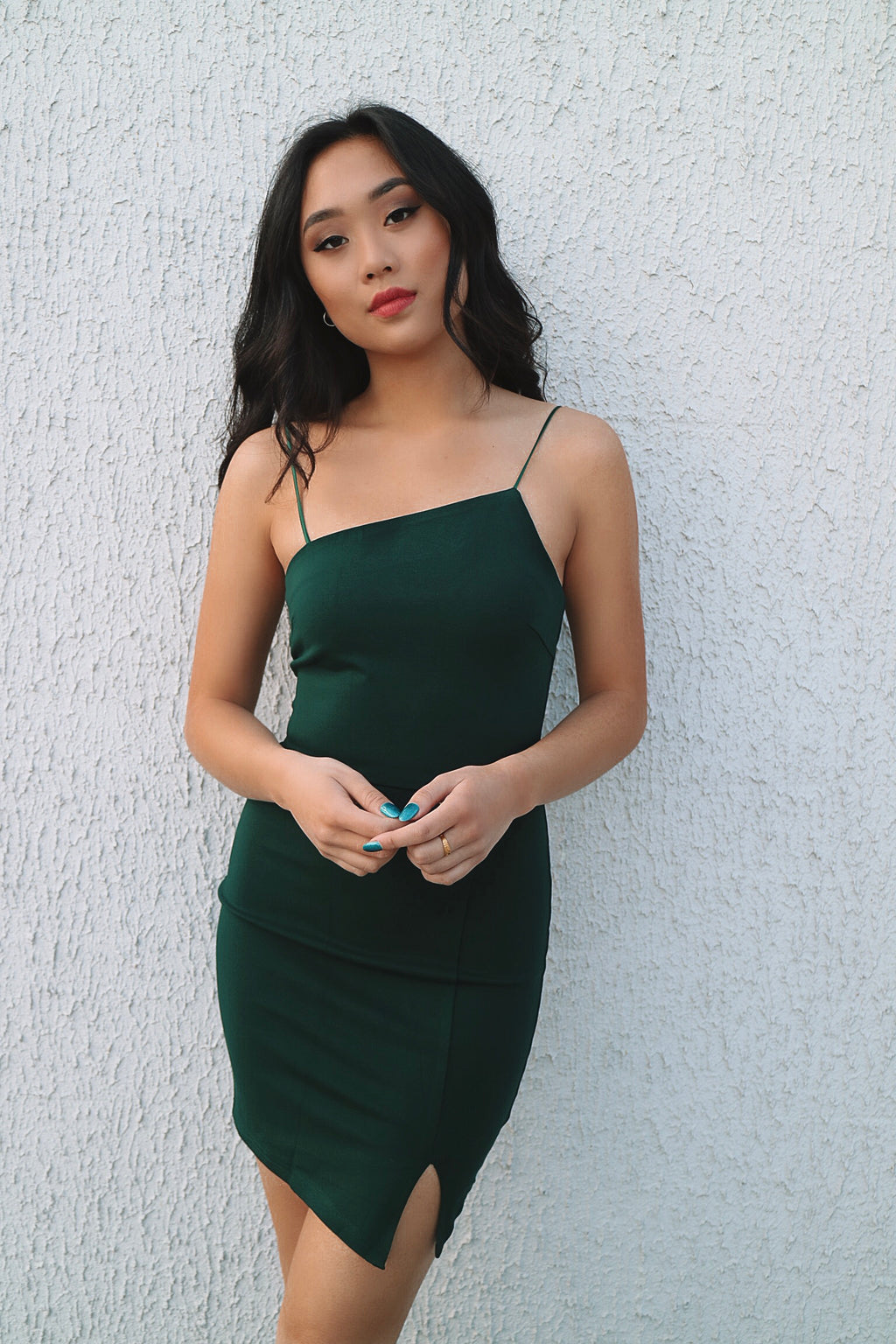 Noella Bodycon Dress - Emerald - Runway Goddess
