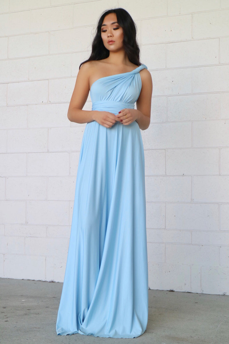 Pandora Multiway Dress - Sky Blue - Runway Goddess