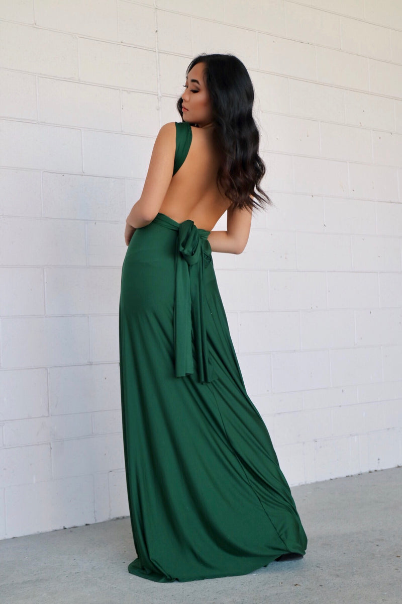 Pandora Multiway Dress - Forest Green - Runway Goddess