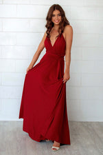 Pandora Multiway Dress - Wine - Runway Goddess