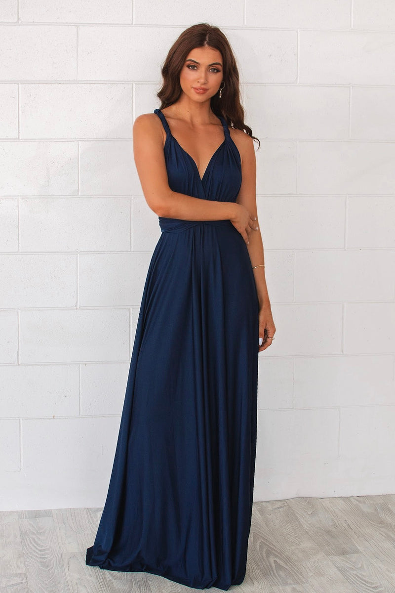 Pandora Multiway Dress - Navy - Runway Goddess