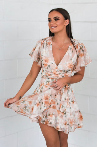 Peachy Keen Floral Dress