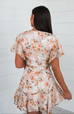 Floral Butterfly Dress - Peachy Keen - Runway Goddess