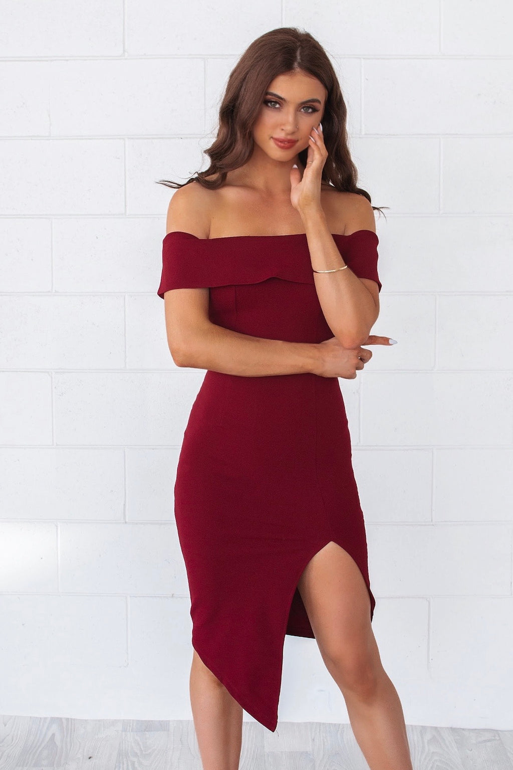 Femme Fatale Dress - Wine - Runway Goddess