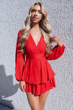 London Playsuit - Red