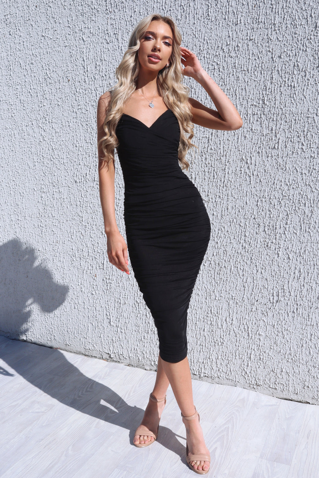 Odessa Midi Dress - Black