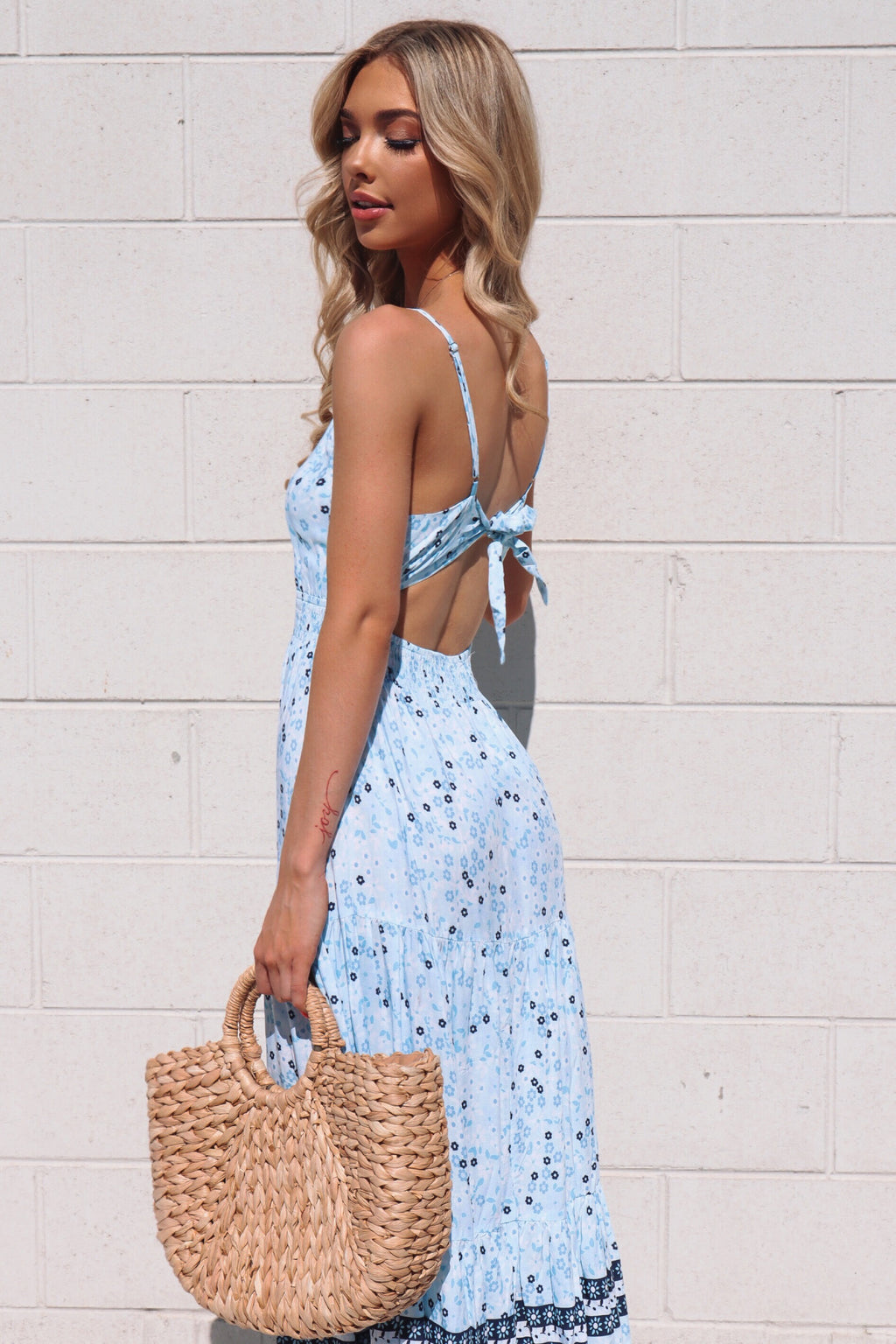 Blue Lagoon Floral Maxi Dress