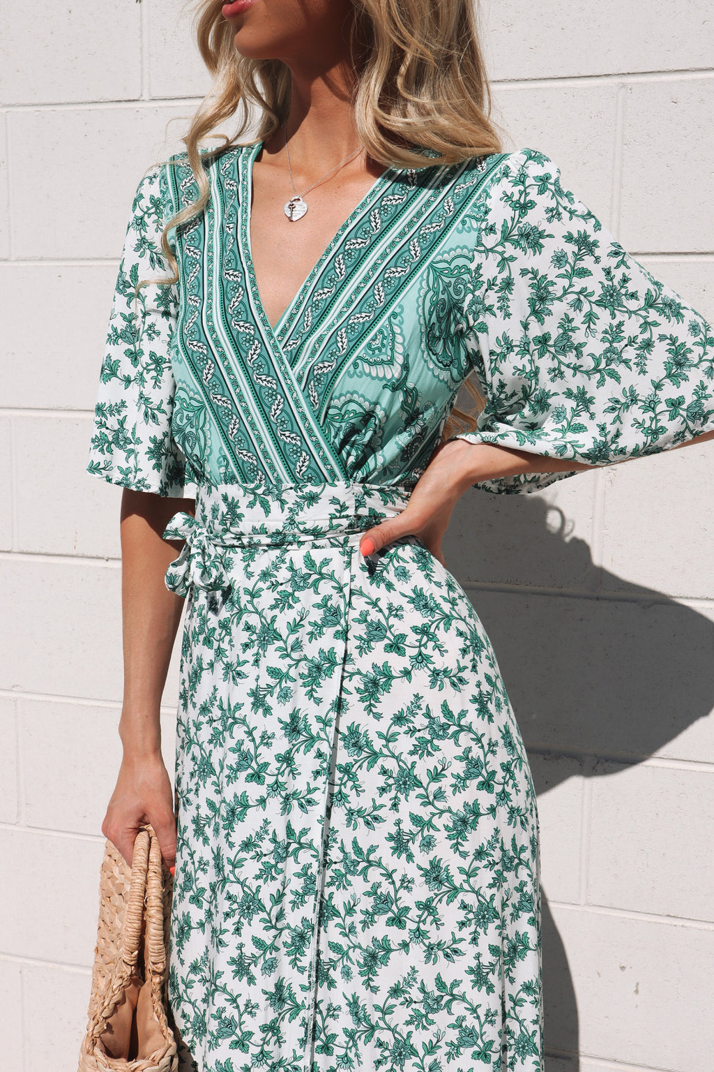 Eden Floral Wrap Maxi Dress