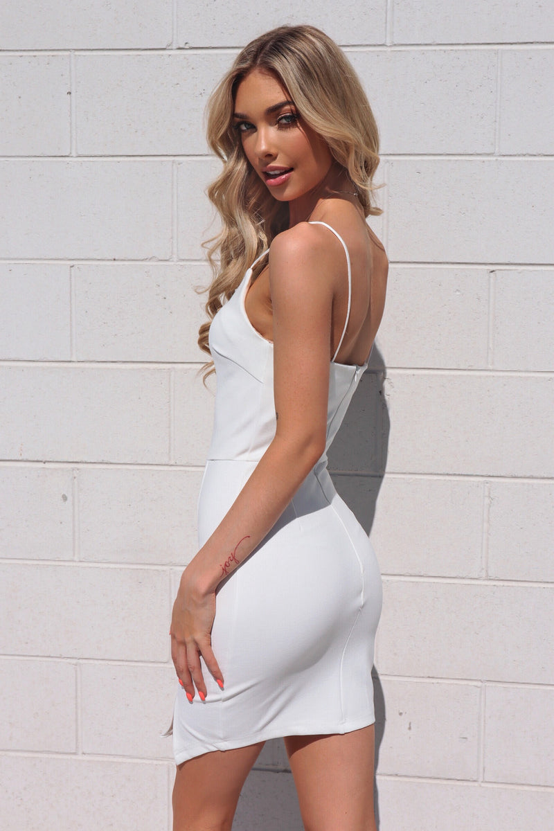 Noella Bodycon Dress - White