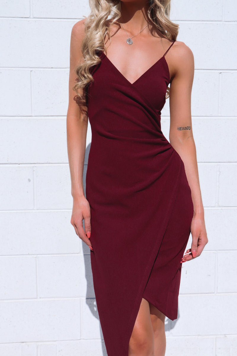 Kylie Bodycon Dress - Plum