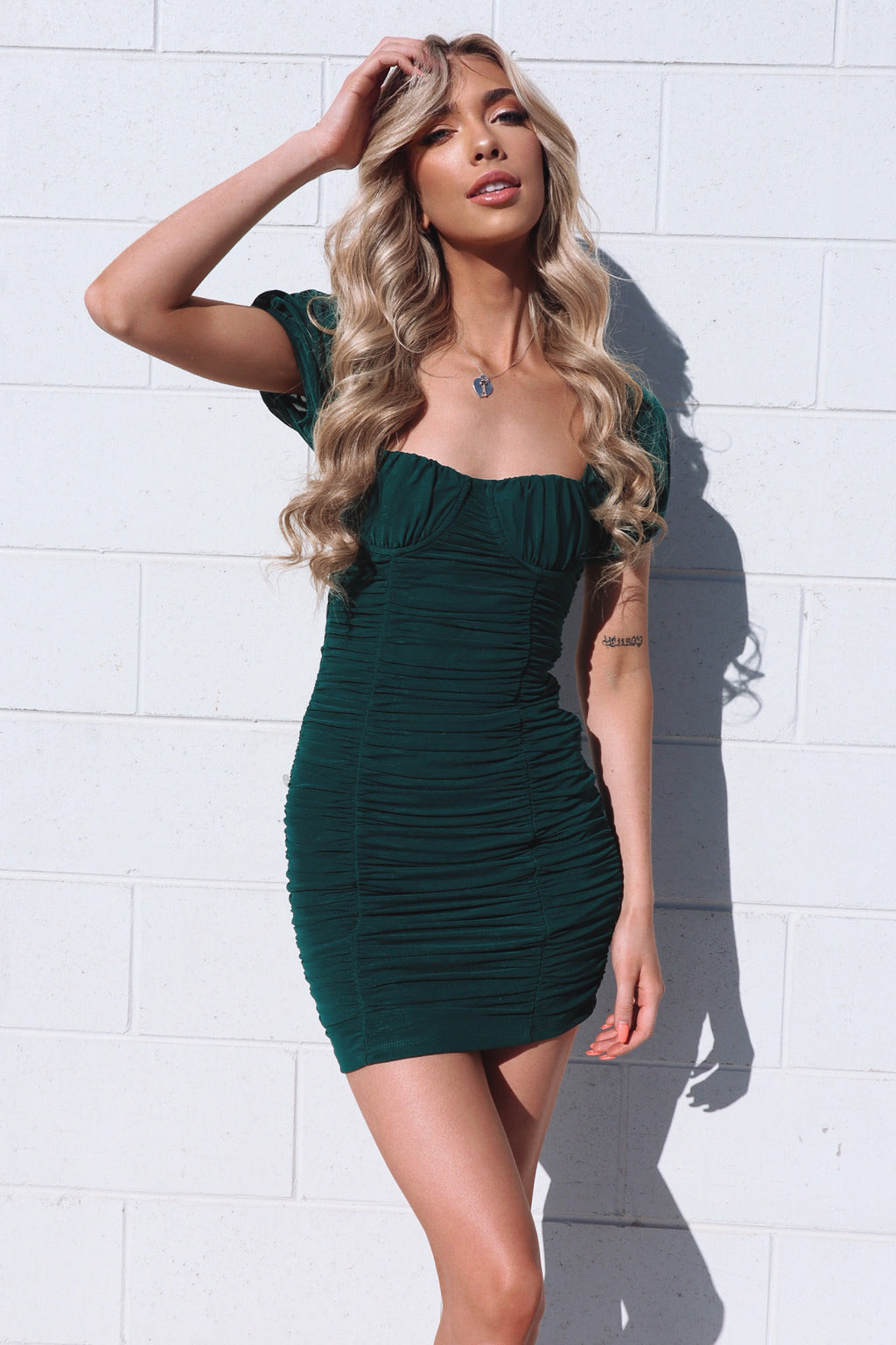 Koko Mesh Dress - Green