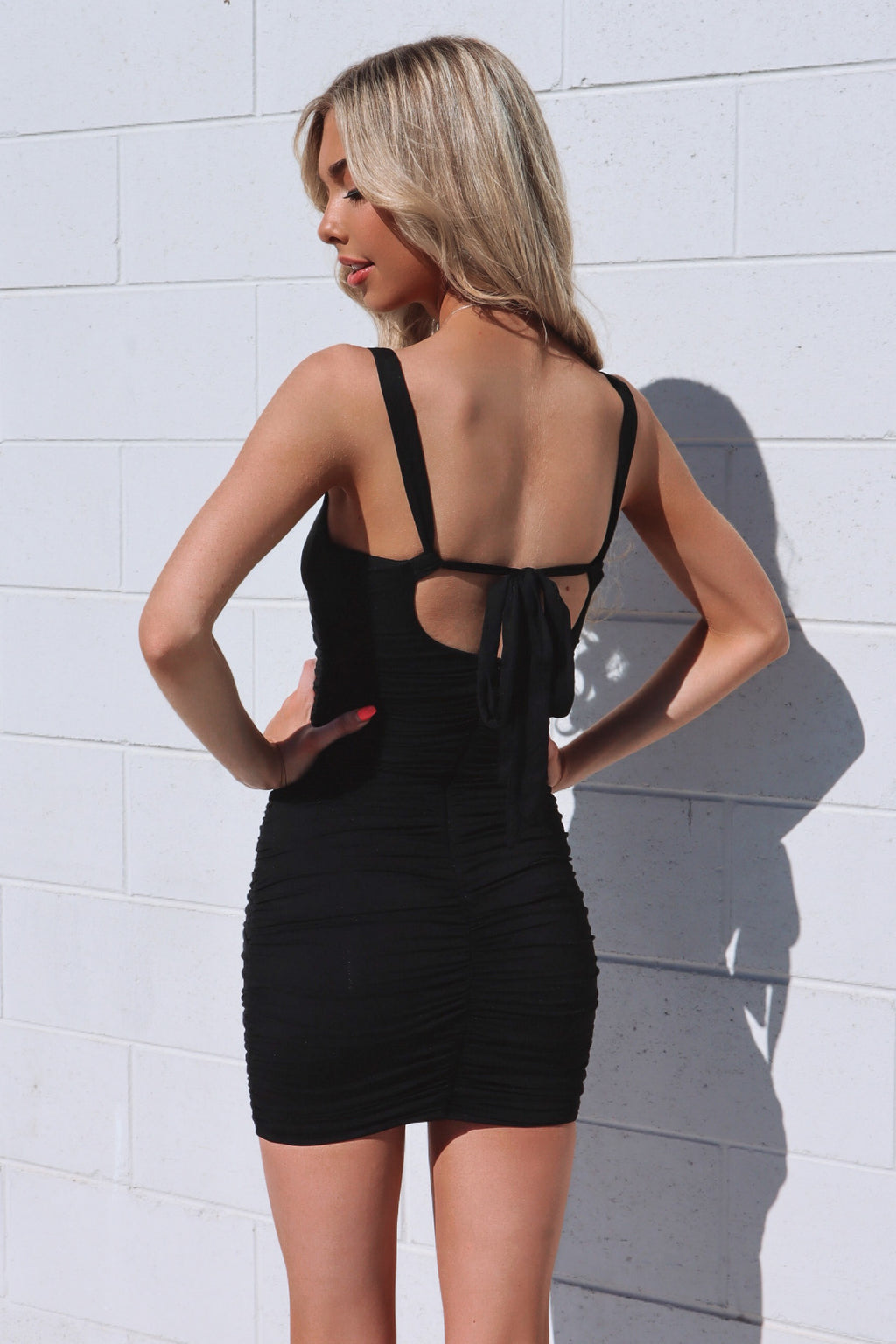 Ciara Jersey Dress - Black