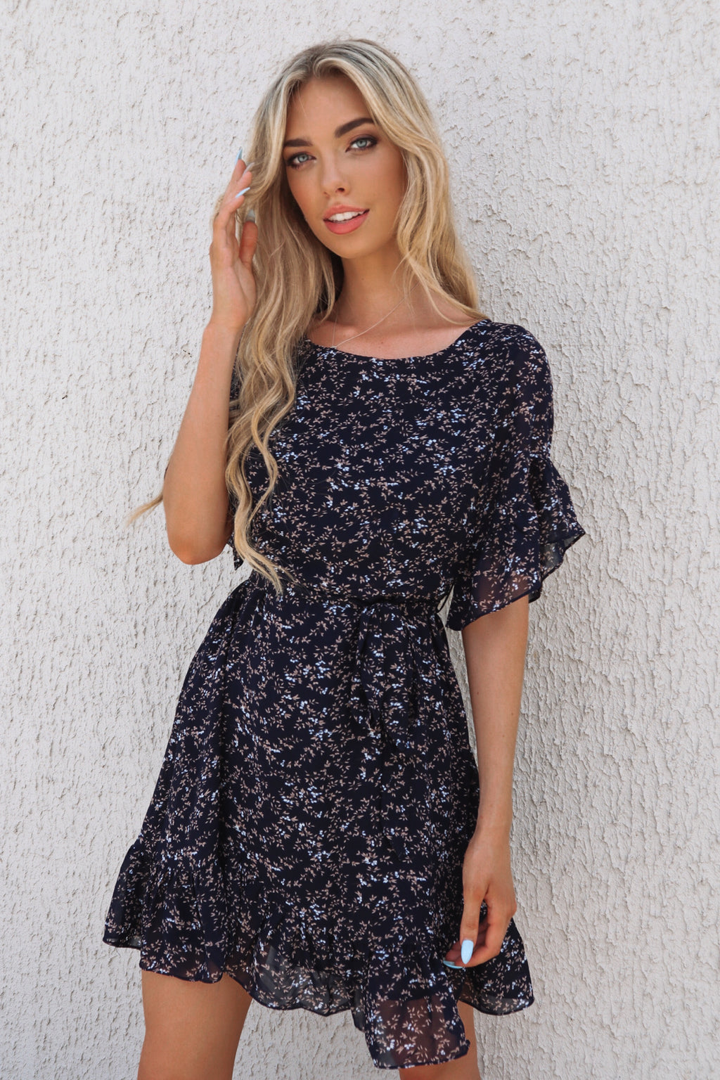 Sweet Pea Navy Dress - Runway Goddess