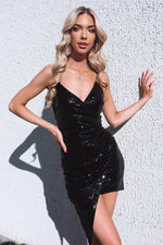Wildheart Sequin Dress - Black