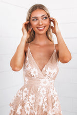 Lace Pixie Playsuit - Nude - Runway Goddess