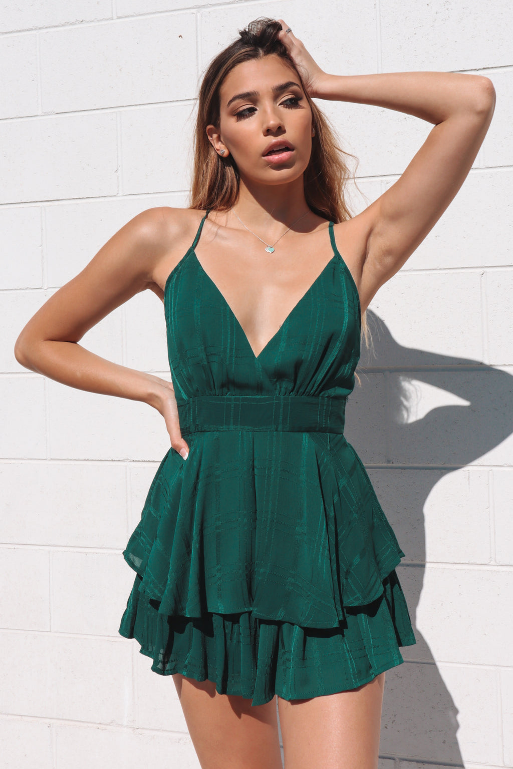 Pixie Playsuit - Emerald
