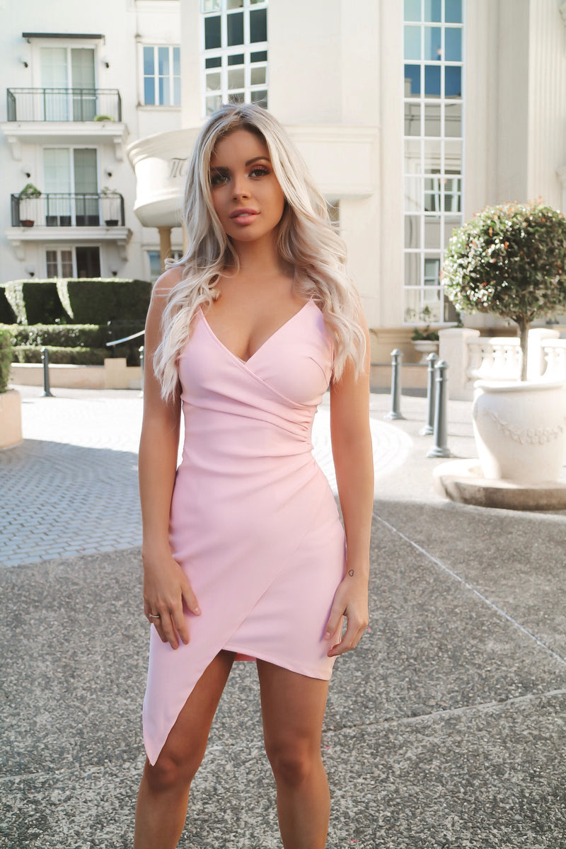 Jordyn Bodycon Dress - Pink - Runway Goddess
