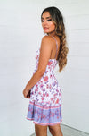 Bondi Dress - Purple Print - Runway Goddess