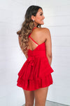 Pixie Playsuit - Red - Runway Goddess