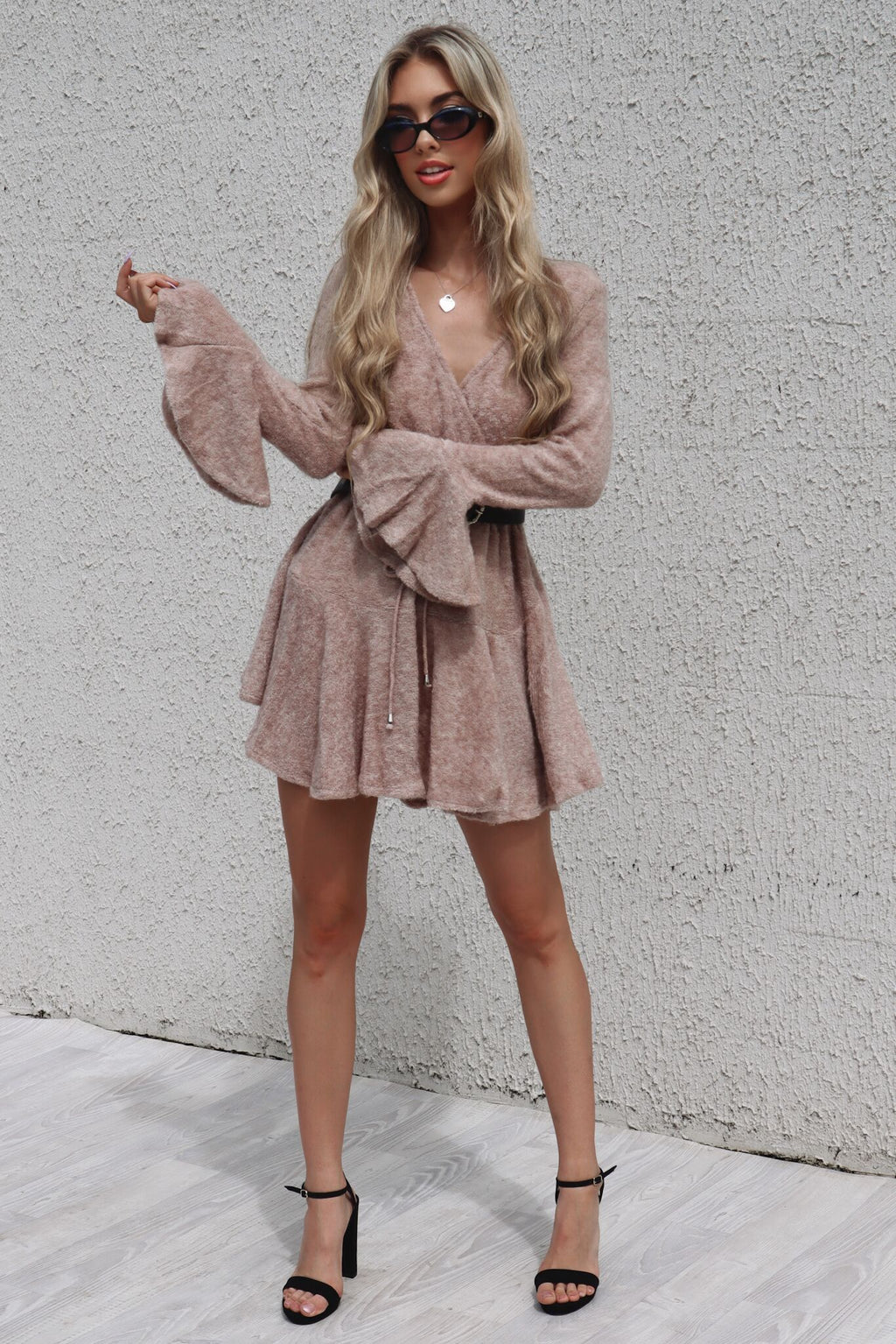 Rose Dianna Knit Dress - Runway Goddess