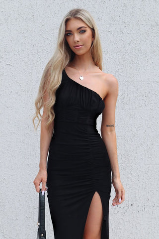 Roxanne Black Midi Dress